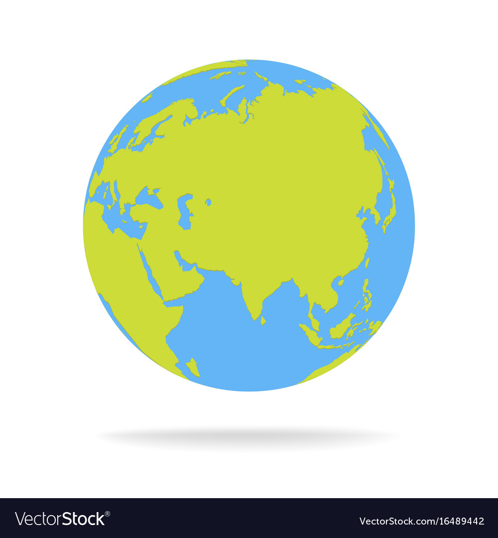 Green and blue cartoon world map globe royalty free vector green and blue cartoon world map globe vector image gumiabroncs Image collections