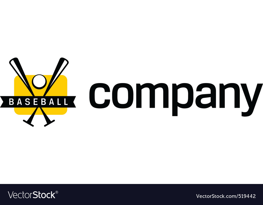 Logo for baseball league vector image