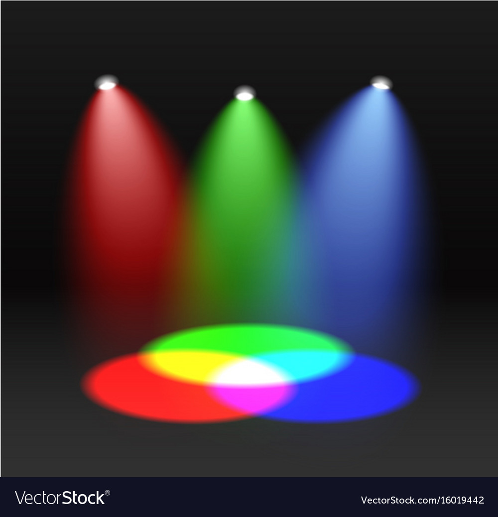 Rgb spectrum red green blue color mixing design vector image geenschuldenfo Image collections