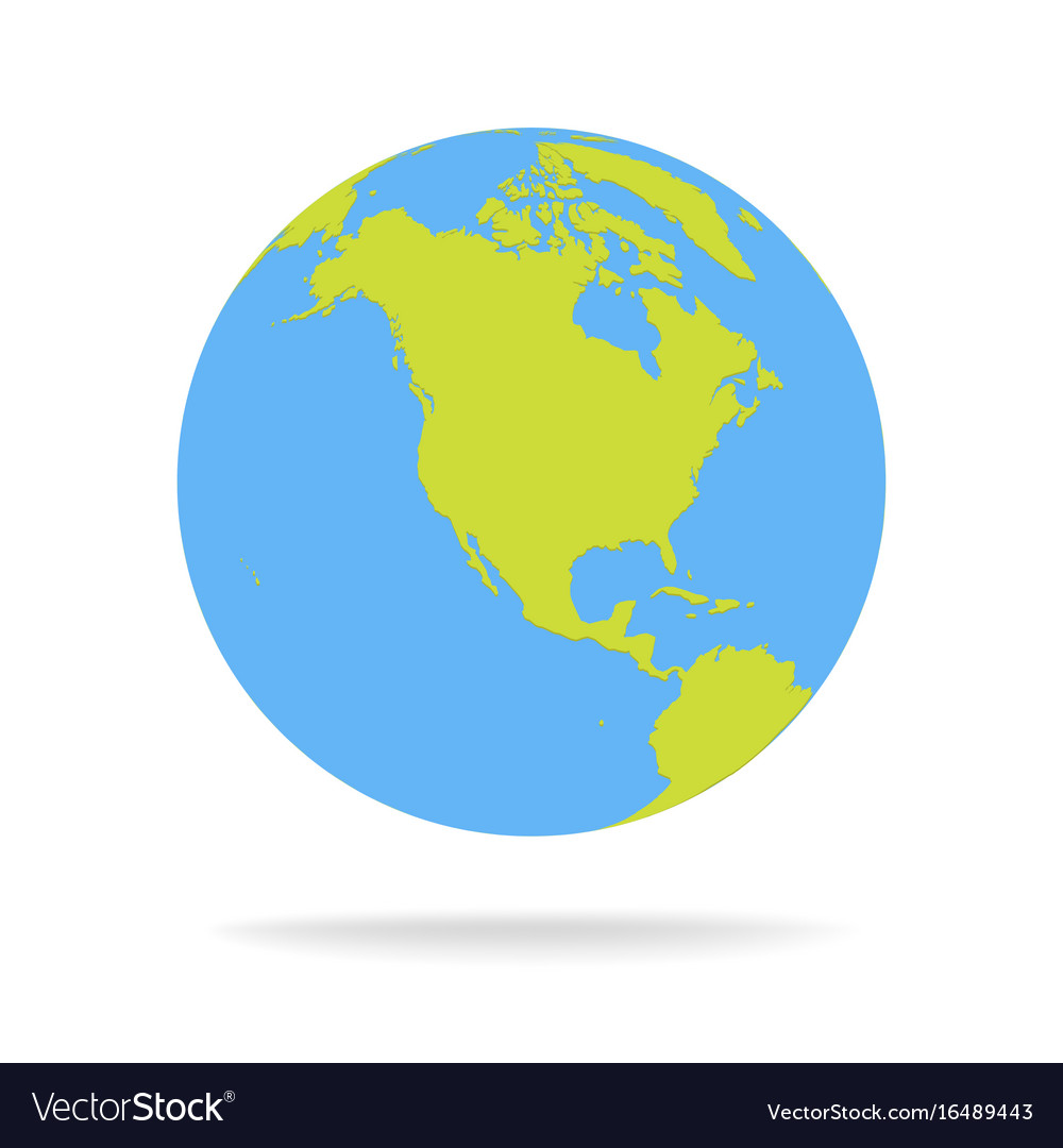 Green and blue cartoon world map globe royalty free vector green and blue cartoon world map globe vector image sciox Images