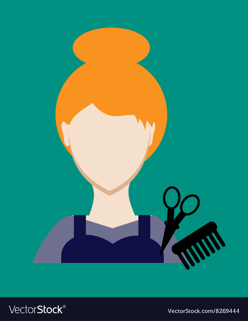 Profession people hairdresser Face female uniform vector image