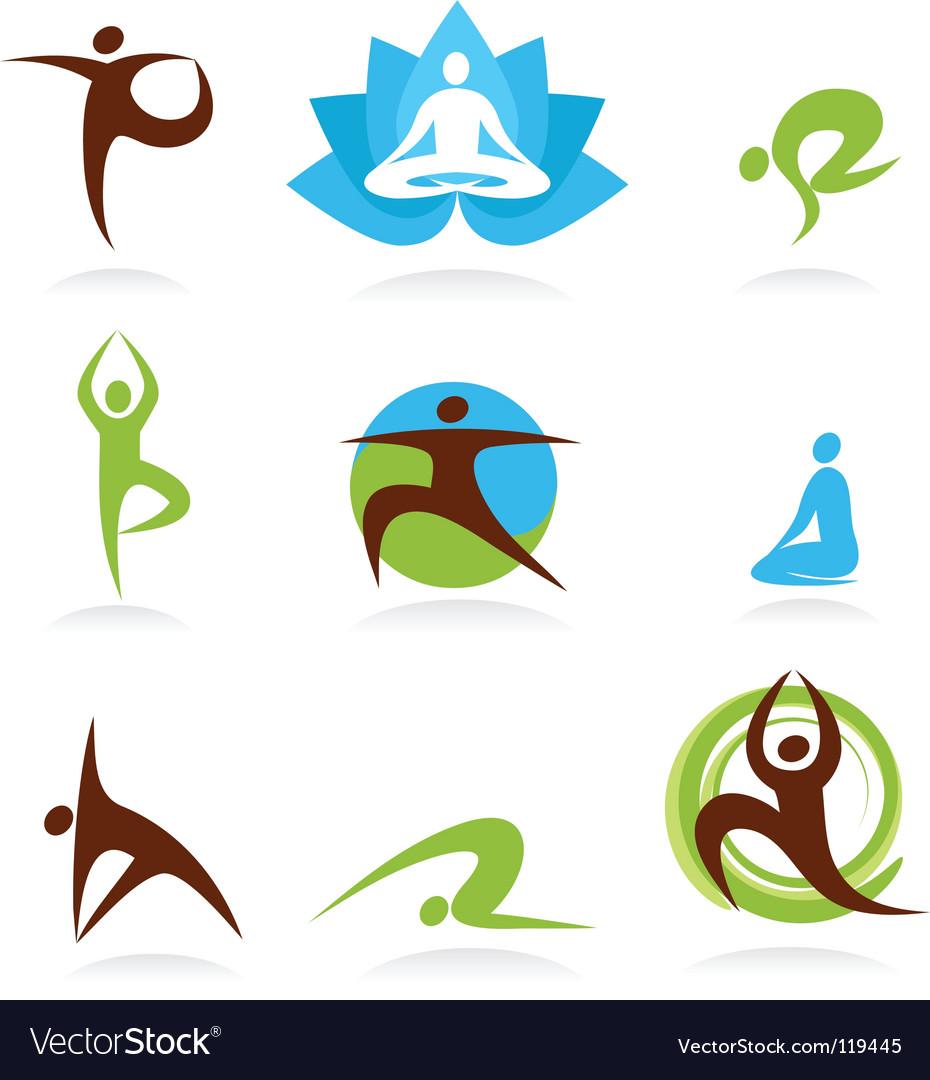 Zen and yoga logos vector image