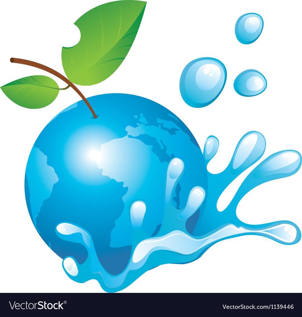 Eco aple vector image
