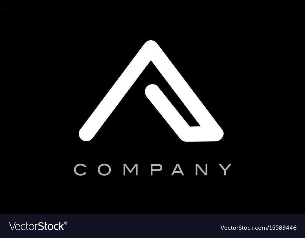 Letter a alphabet logo icon template design vector image