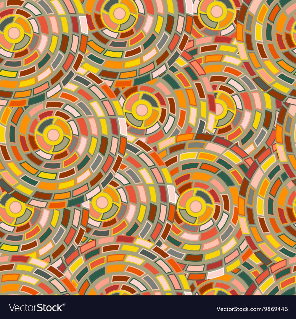 Seamless pattern of circles kaleidoscope vector image