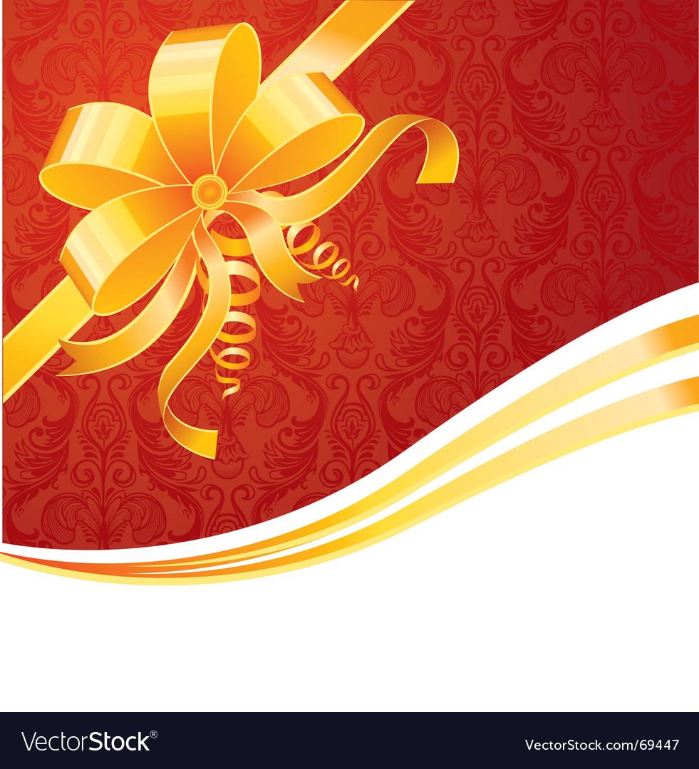Ribbon wrapping vector image