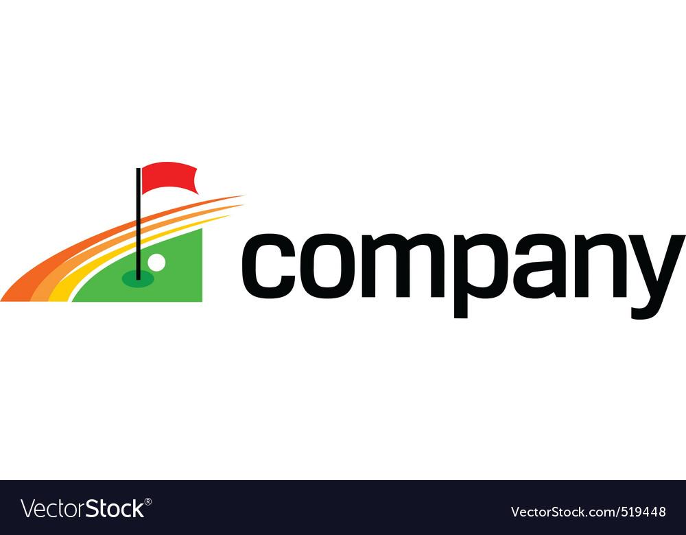 Golf club logo vector image