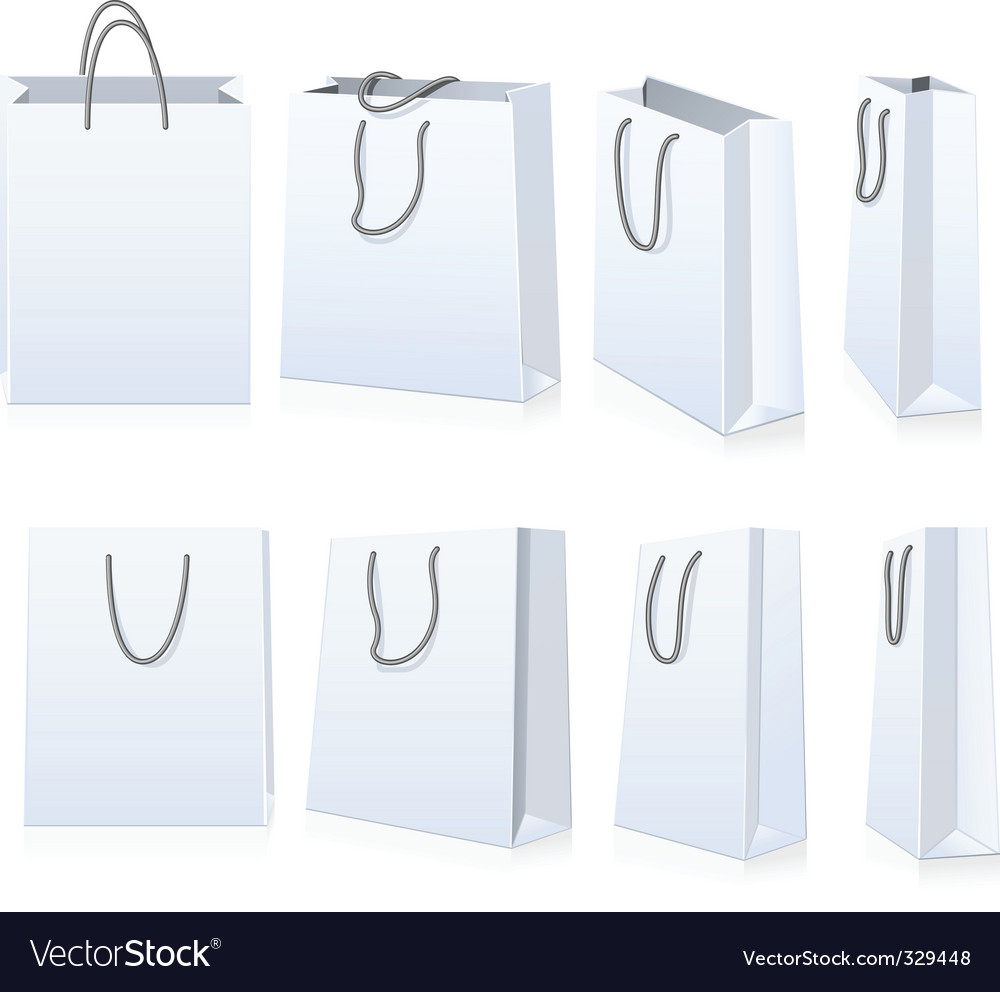 set of shopping bags royalty free vector image