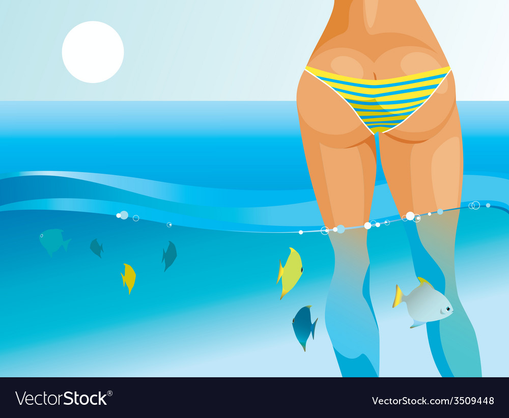 Tropical blue vector image