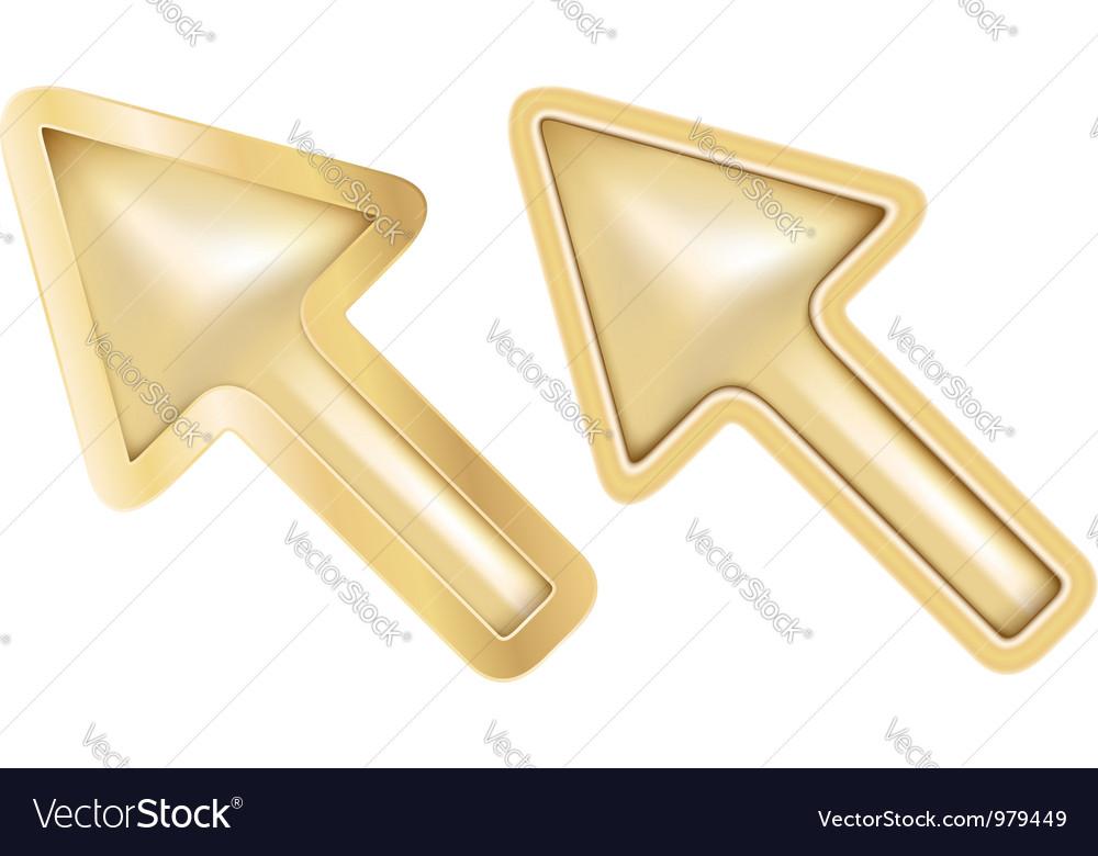 Golden cursors vector image