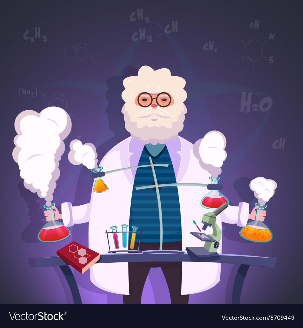 Professor Of Chemistry Poster vector image