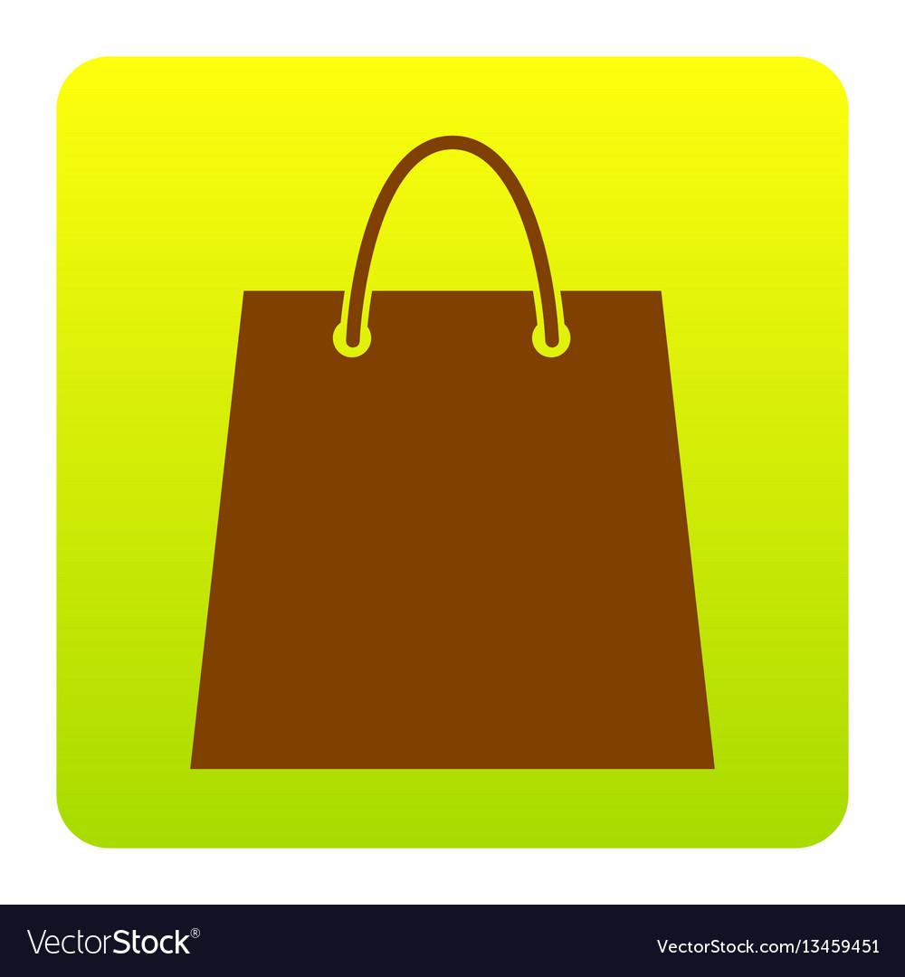 Shopping bag brown icon at vector image