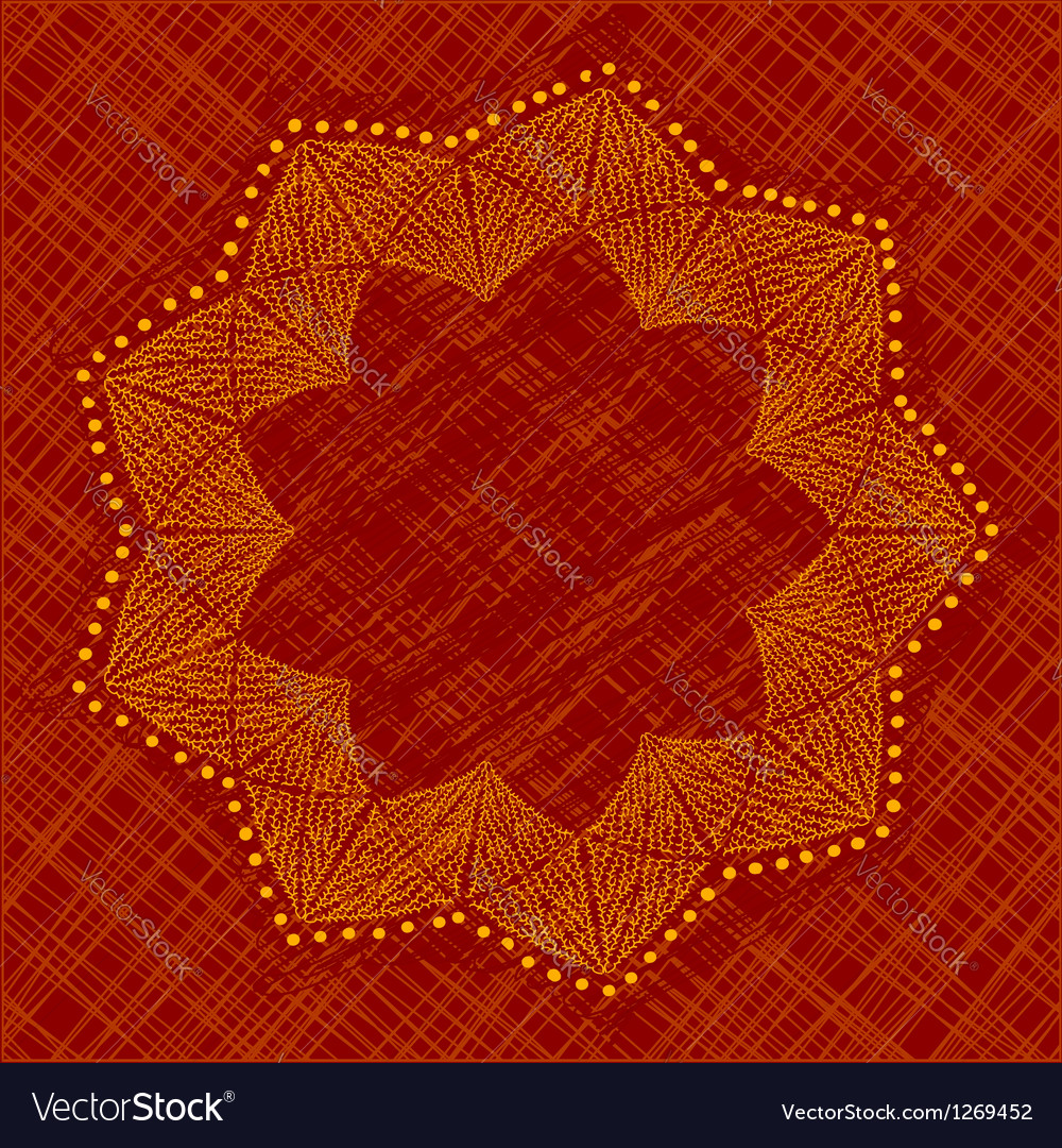 Abstract flower with nine petals vector image