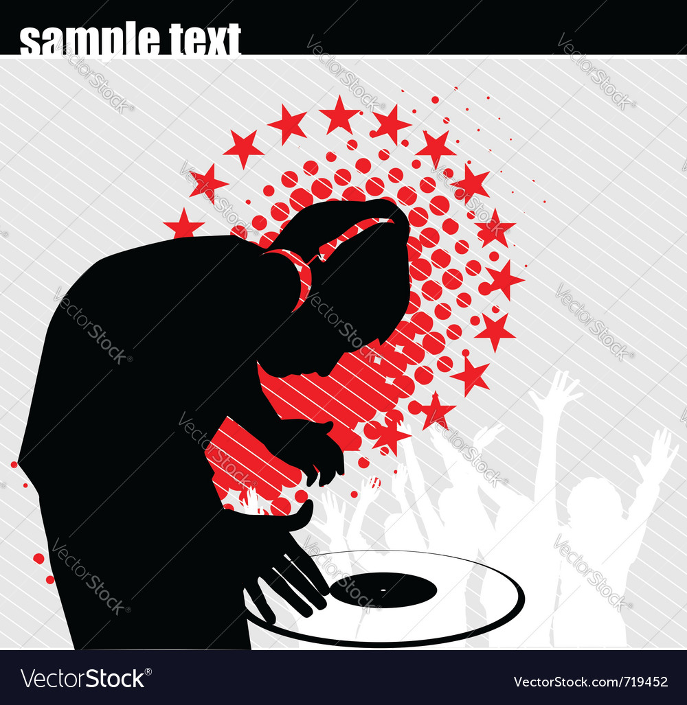 Club dj vector image