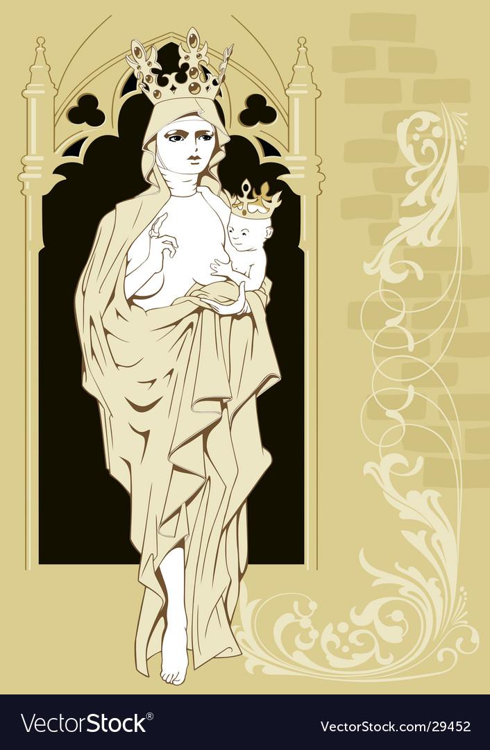 Madonna vector image