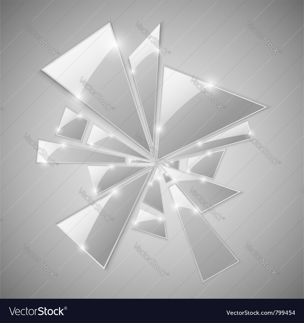 Broken glass shards vector image