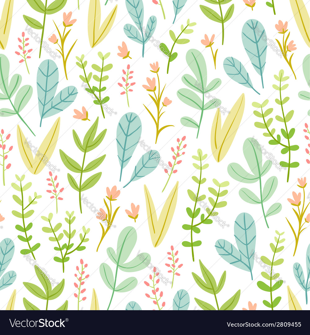 Beautiful pastel floral seamless pattern vector image
