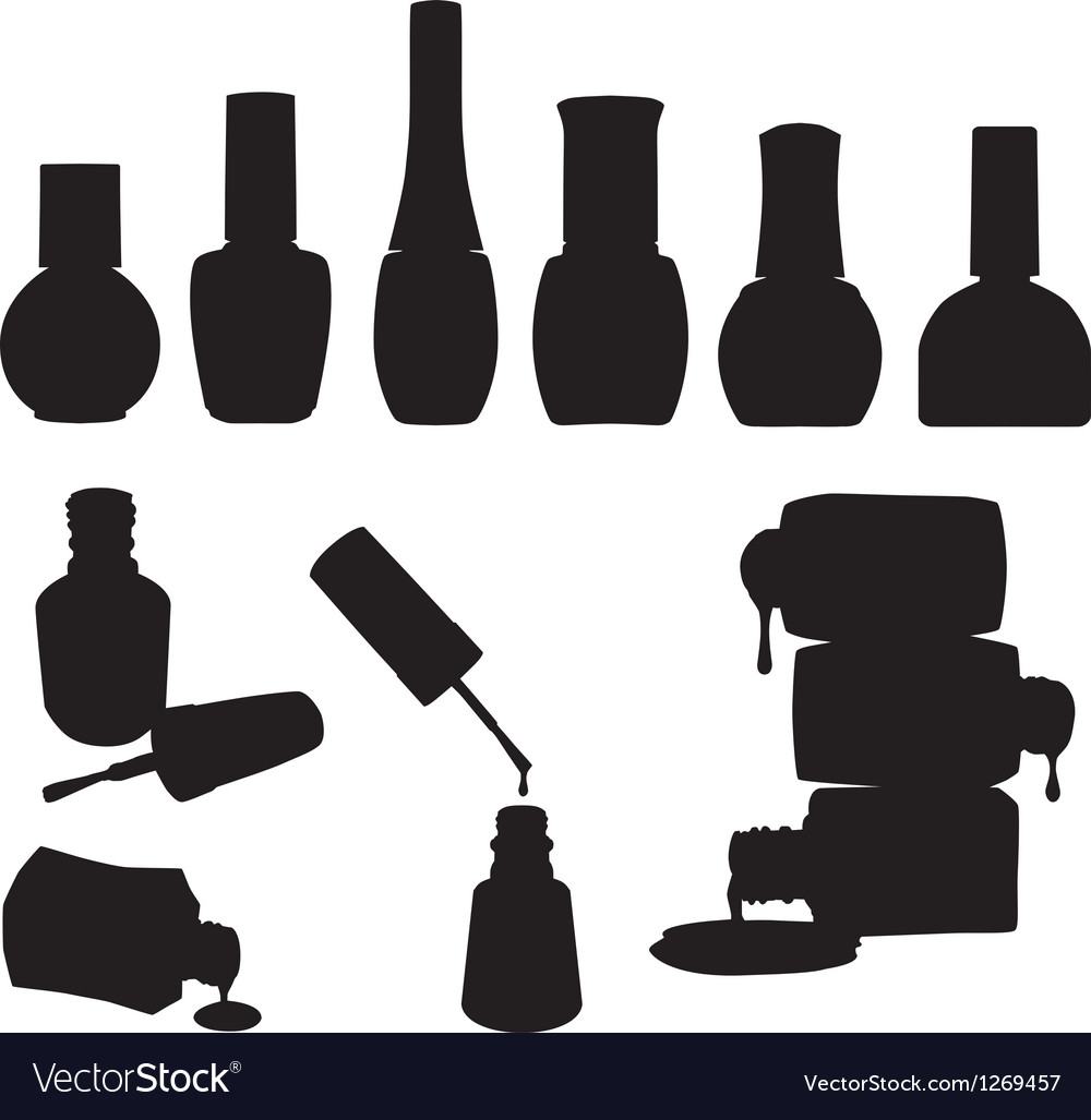 Set of Nail Polish Bottles vector image