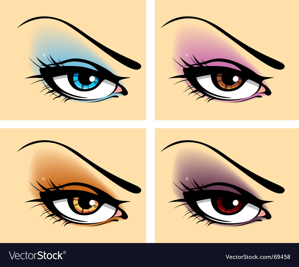 Beautiful makeup vector image