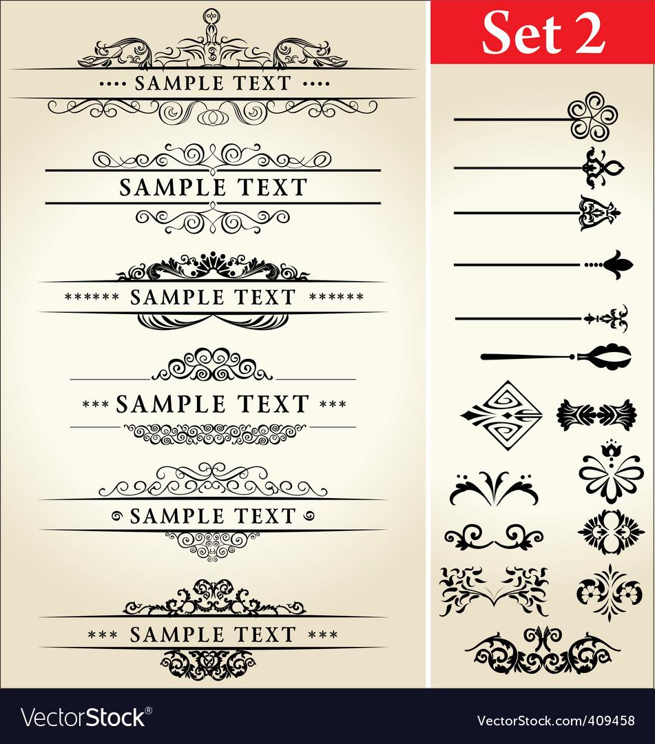 Calligraphy designs vector image