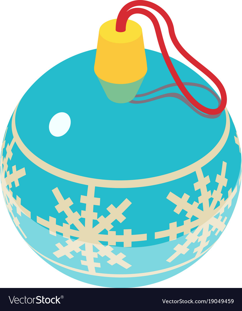 Christmas ball icon isometric 3d style vector image