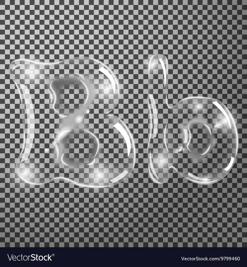 Bubbles letters B vector image