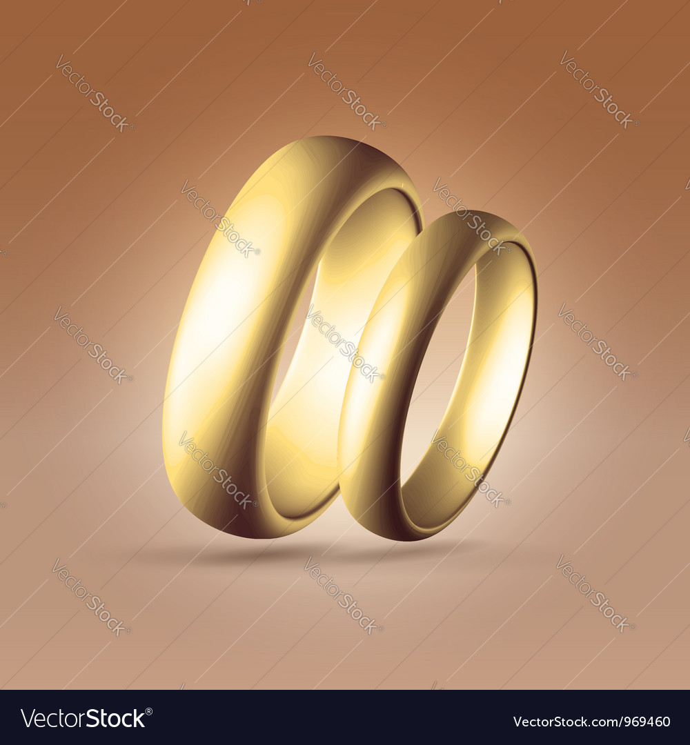 Two parallel golden rings Royalty Free Vector Image