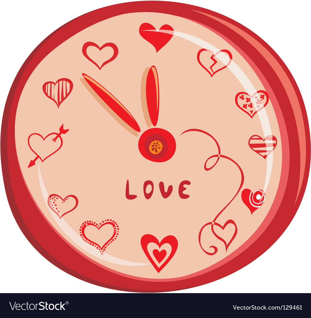 Love clock vector image