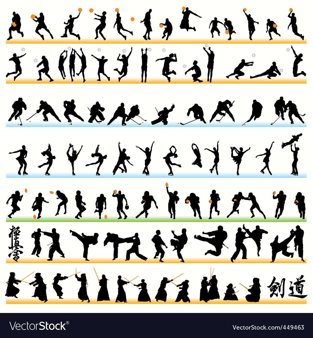 Sports set02 vector image