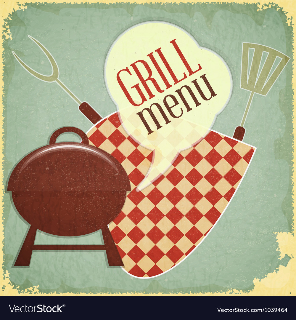 Grill and Barbecue Menu vector image