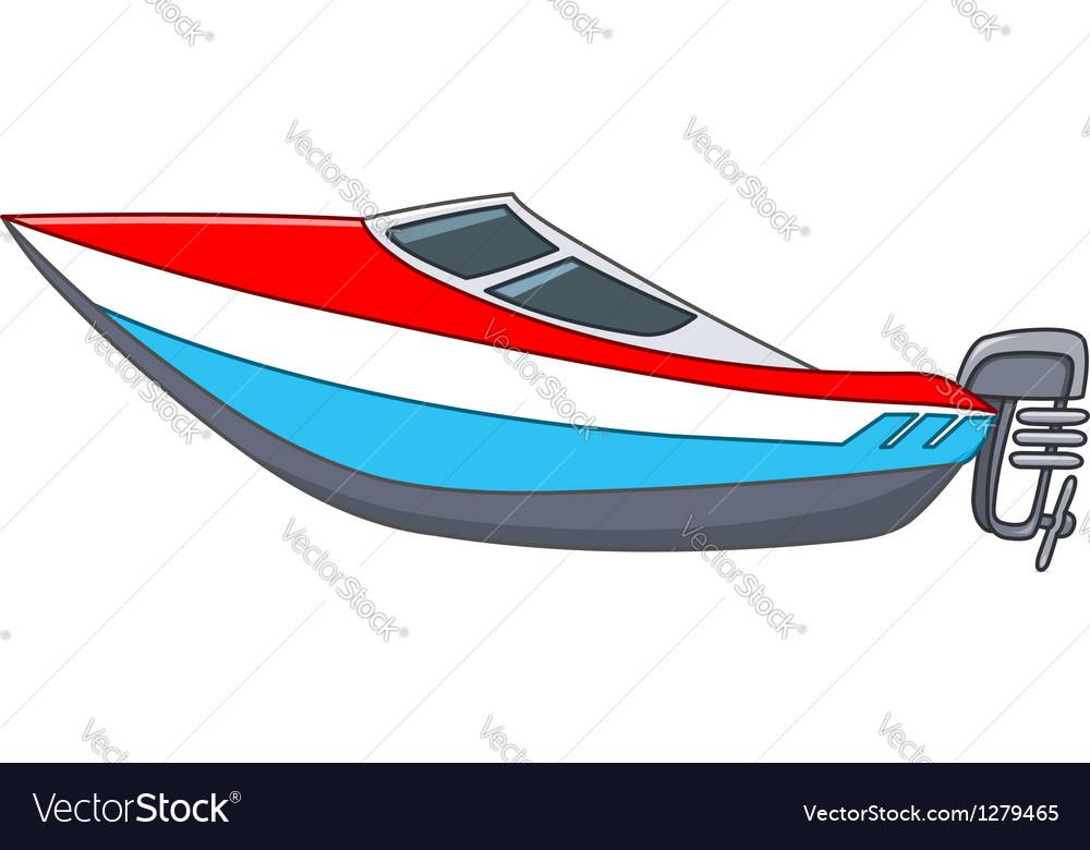 Cartoon motorboat vector image