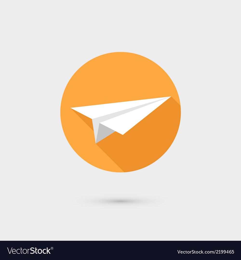 Flying paper airplane symbol icon flat design vector image