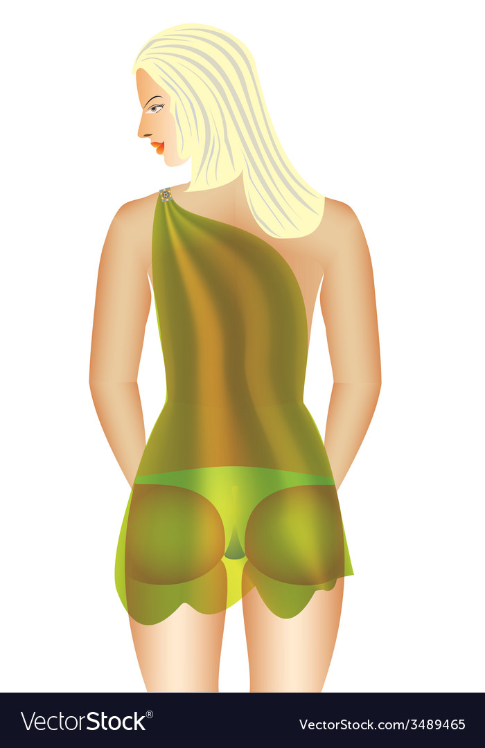 Woman under a fabric vector image