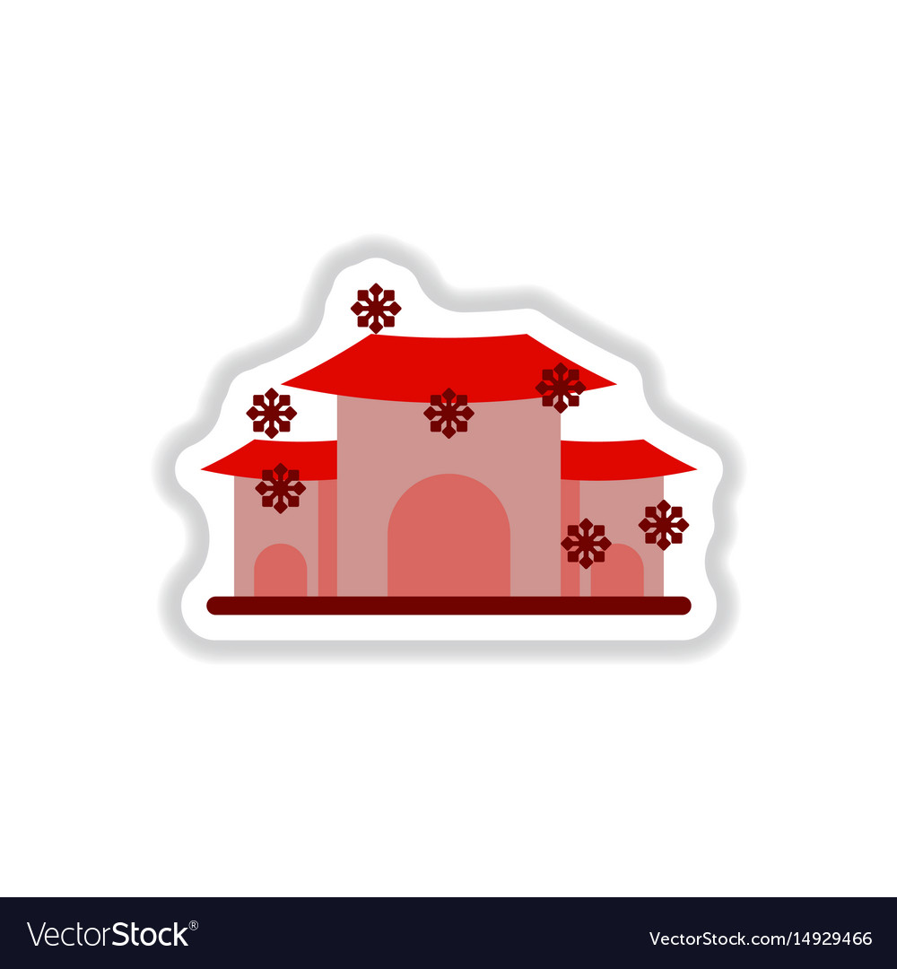 color circular frame with house in winter | Stock Images Page ...