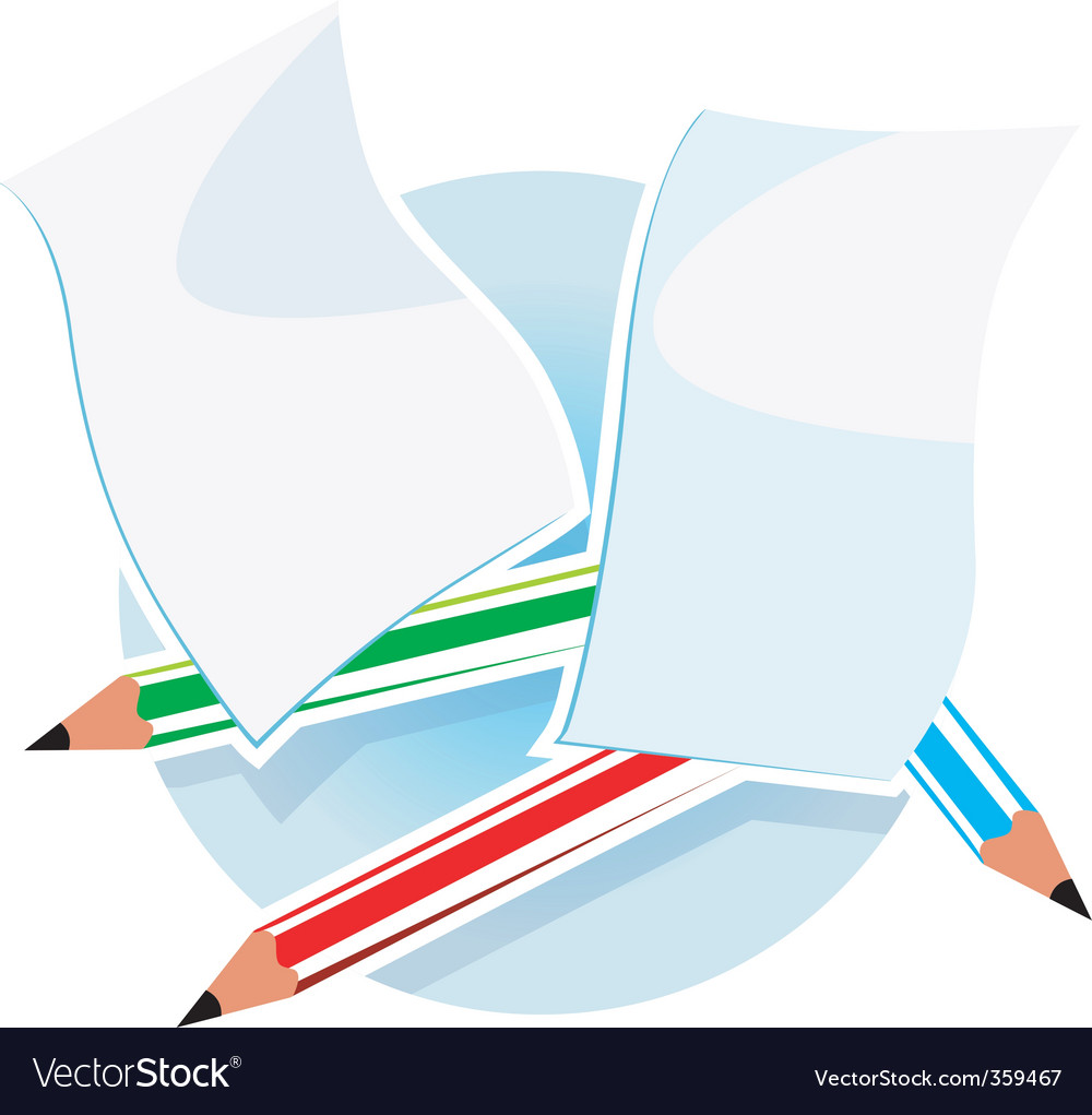 Paper vector image