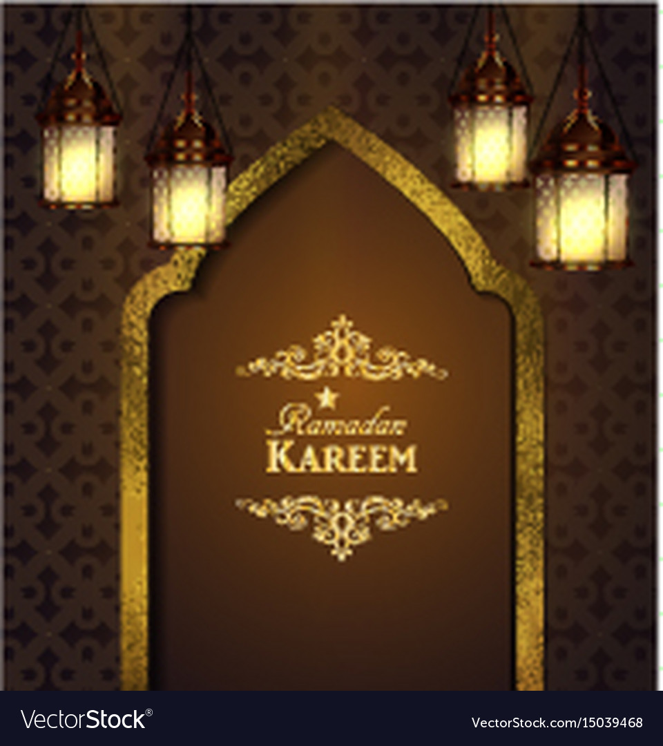 Islamic Design Mosque Door Vector Image