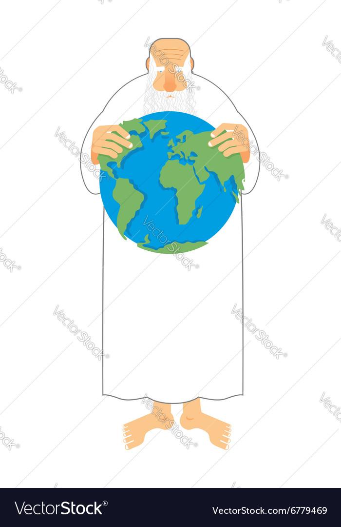god sees earth in his hands creator keeps the vector image rh vectorstock com free vector creator vector creator online free