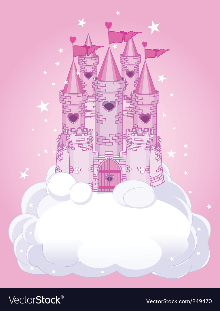 Sky castle vector image