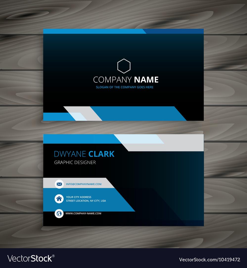 Dark blue business card royalty free vector image dark blue business card vector image reheart Images