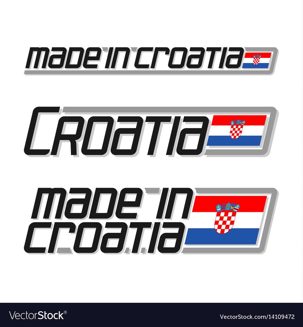 Made in croatia vector image