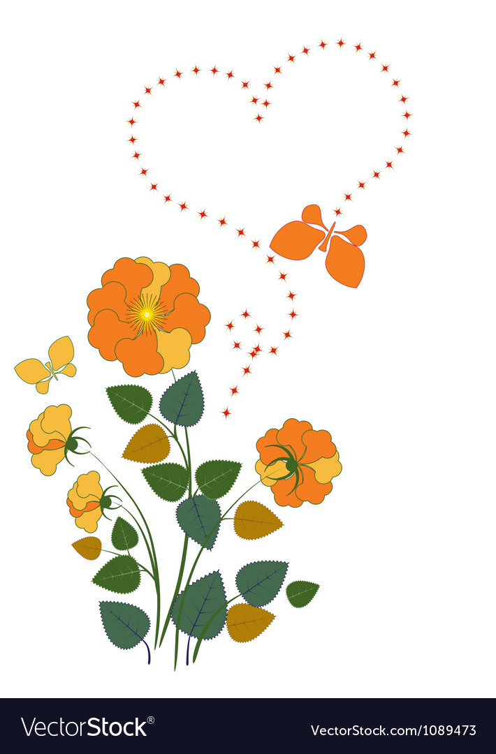 Yellow roses vector image