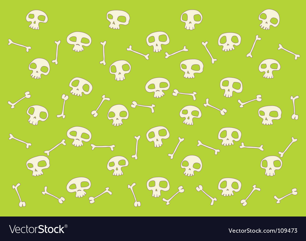 Skulls and bones pattern vector image