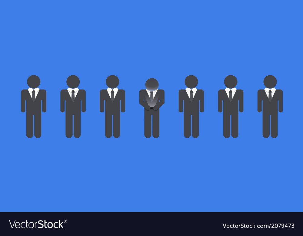 Flat modern business background vector image