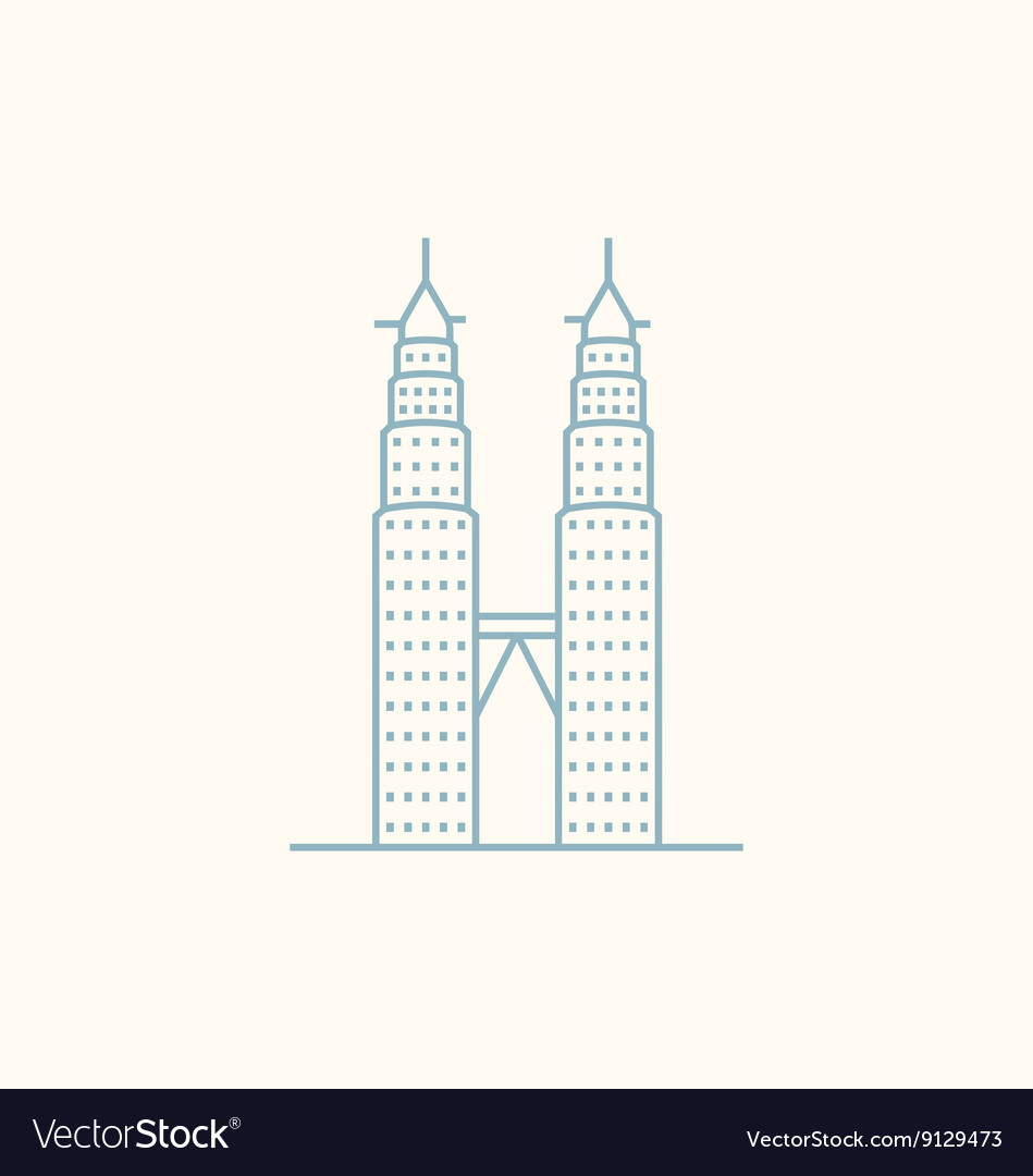 Petronas twin towers royalty free vector image petronas twin towers vector image buycottarizona Gallery