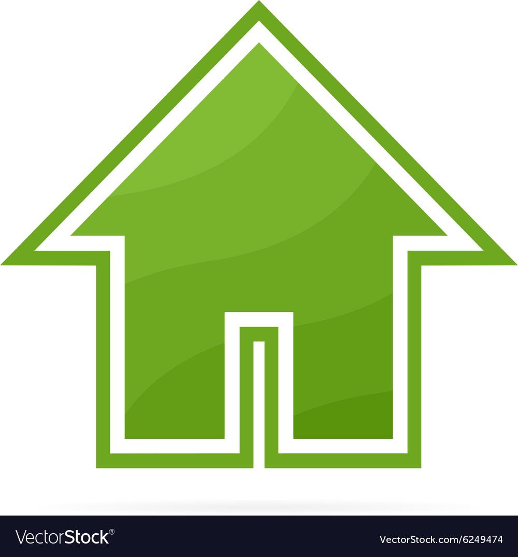 Eco house logo or icon vector image