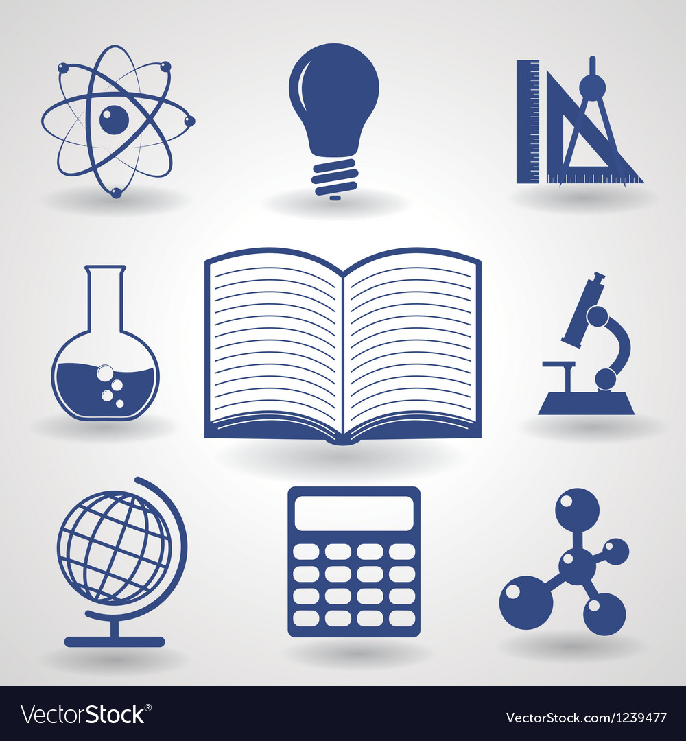 Symbols of education vector image