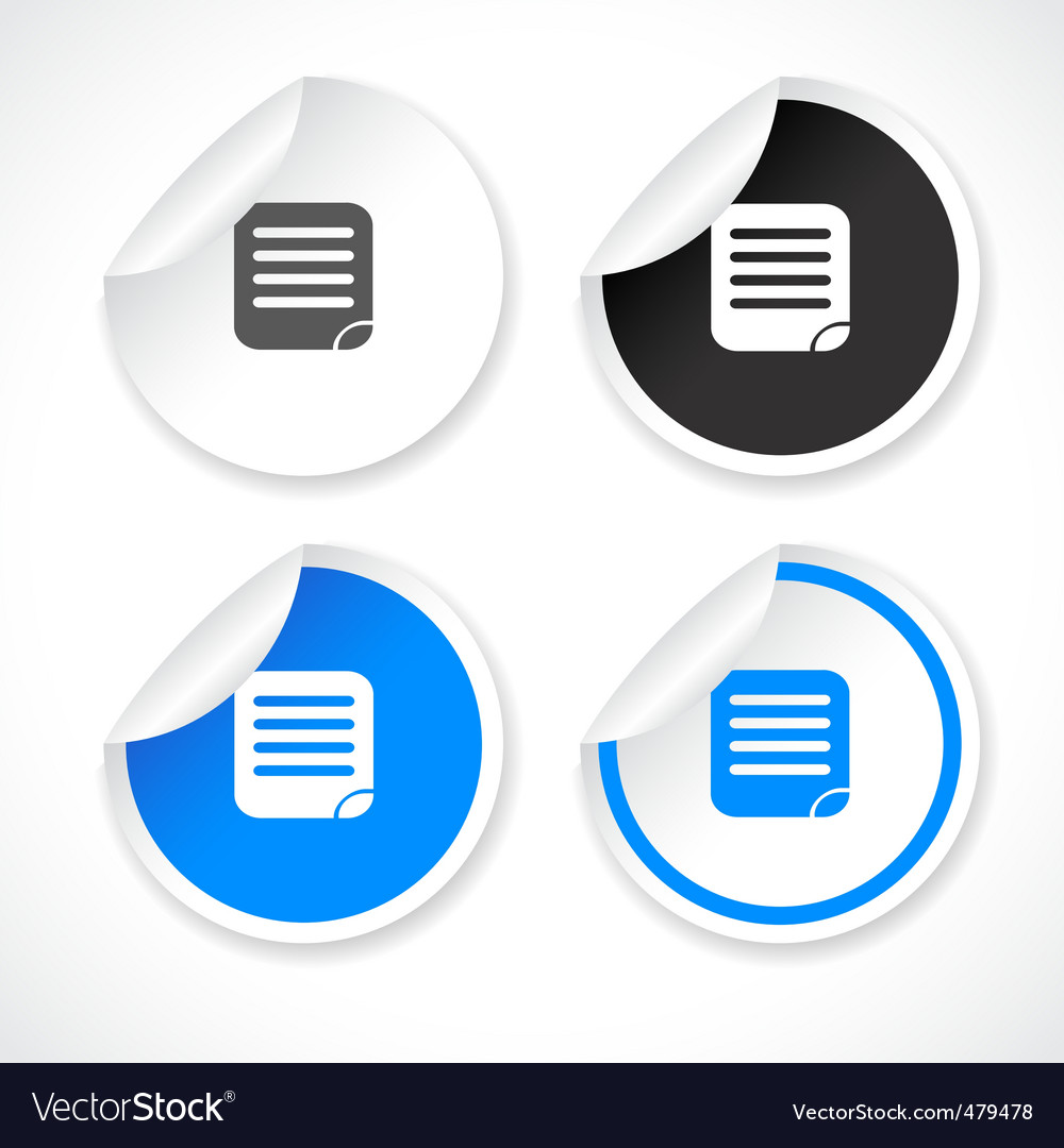 Stickers for web vector vector image