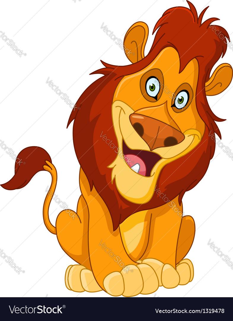 Happy lion vector image