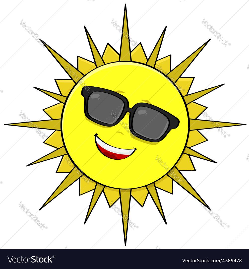 Sun shades vector image