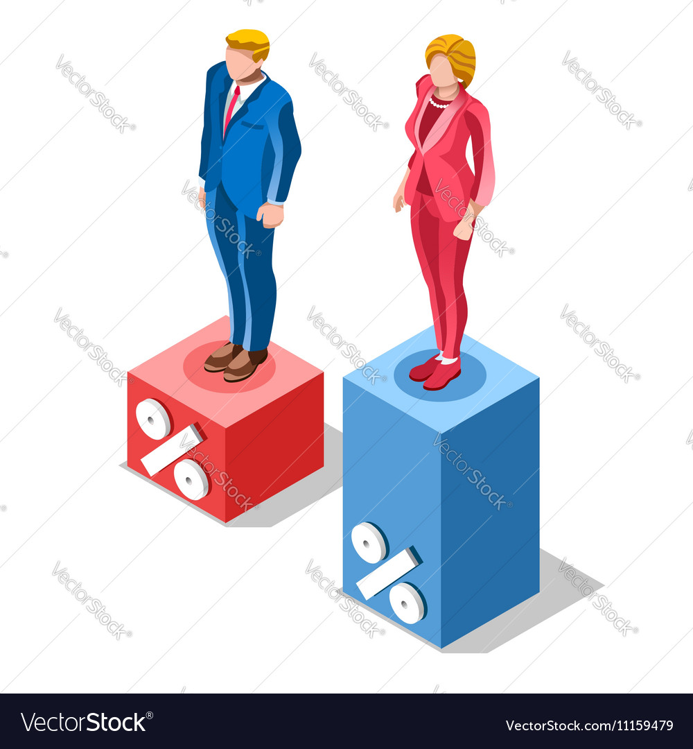 Election Infographic Pools Presidential Isometric vector image